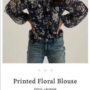 Lucky Brand  Long Sleeve Floral Blouse XS